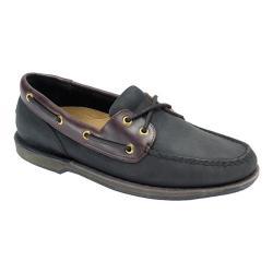 Men's Rockport Perth Loafer Black/Bark Leather