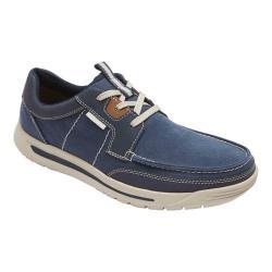 Men's Rockport Randle Moc Toe Shoe Blue Canvas