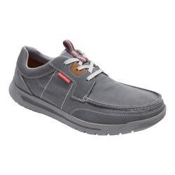 Men's Rockport Randle Moc Toe Shoe Castlerock Grey Canvas