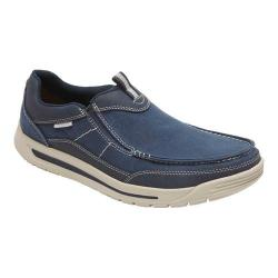 Men's Rockport Randle Slip On Blue Canvas