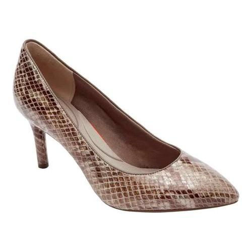 1472d4e35f Shop Women's Rockport Total Motion 75mm Pointy Toe Pump Nude Am Lux Leather  - Free Shipping Today - Overstock - 15362795