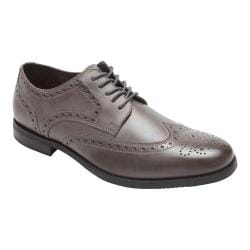 Men's Rockport Style Purpose Wing Tip Oxford Grey Leather