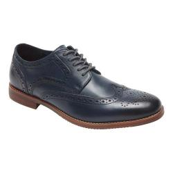 Men's Rockport Style Purpose Wing Tip Oxford Navy Leather