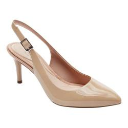 Women's Rockport Total Motion 75MM Pointy Toe Slingback Warm Taupe Patent