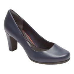 Women's Rockport Total Motion 75mm Pump Deep Ocean Nappa