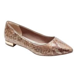 Women's Rockport Total Motion Adelyn Ballet Flat Nude Am Lux Full Grain Leather
