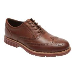 Men's Rockport Total Motion Fusion Wing Tip New Caramel Leather