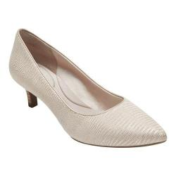 Women's Rockport Total Motion Kalila Pump Bone Metallic Snake Full Grain Leather