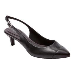Women's Rockport Total Motion Kalila Slingback Black Full Grain Leather