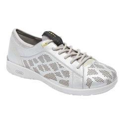 Women's Rockport Truflex W Lace To Toe Sneaker Silver Synthetic