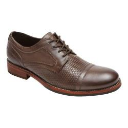 Men's Rockport Wyat Cap Toe Oxford Coffee Full Grain Leather