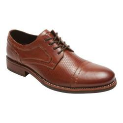 Men's Rockport Wyat Cap Toe Oxford Cognac Full Grain Leather