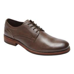 Men's Rockport Wyat Plain Toe Oxford Coffee Leather