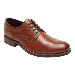 Men's Rockport Wyat Plain Toe Oxford Cognac Leather