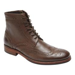 Men's Rockport Wyat Wingtip Boot Coffee Leather