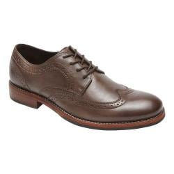 Men's Rockport Wyat Wingtip Oxford Coffee Full Grain Leather