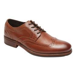 Men's Rockport Wyat Wingtip Oxford Cognac Full Grain Leather