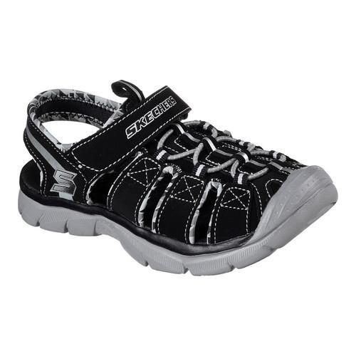 b8483aefb Shop Boys  Skechers Relix Sandal Black Gray - Free Shipping On Orders Over   45 - Overstock - 15362896