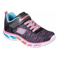 Girls' Skechers S Lights Litebeams Colorburst Sneaker Black/Multi