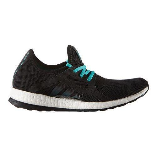 Shop Women s adidas Pure Boost X Trainer Core Black Shock Green Core Black  - Free Shipping Today - Overstock - 15378378 ce5e03b93