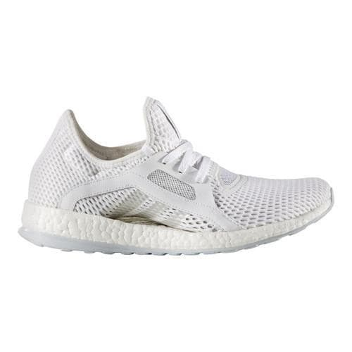 Shop Women s adidas Pure Boost X Trainer White Silver Metallic Clear Grey -  Free Shipping Today - Overstock - 15378381 ac1d1362e925