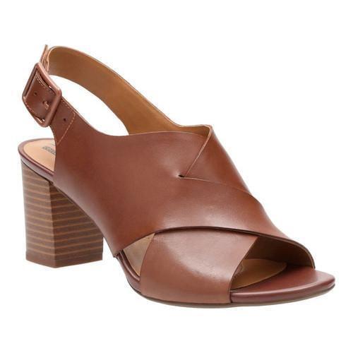 e3f7fc0235b Shop Women s Clarks Deva Janie Slingback Tan Leather - Free Shipping Today  - Overstock - 15378393