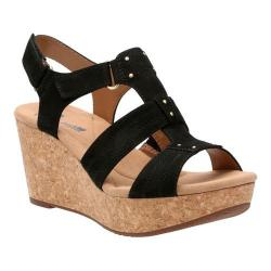 Women's Clarks Annadel Orchid Wedge Slingback Black Nubuck (2 options available)