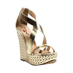 Women's Luichiny Cor Eena Sandal Gold Imi Leather