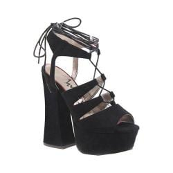 Women's Luichiny Try This On Platform Sandal Black Imi Suede