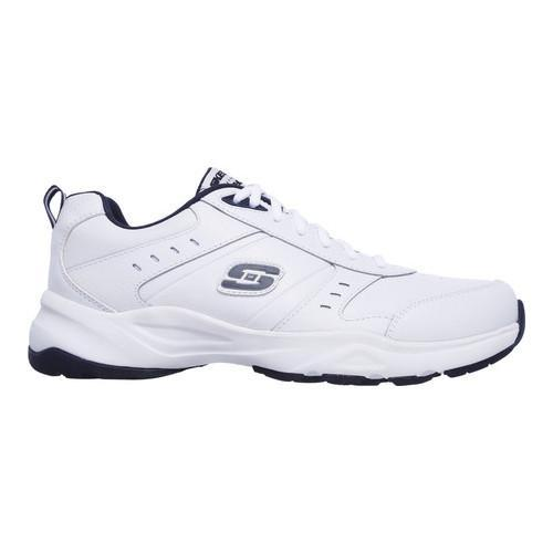 Men's Skechers Haniger Training Sneaker White/Navy - Thumbnail 1