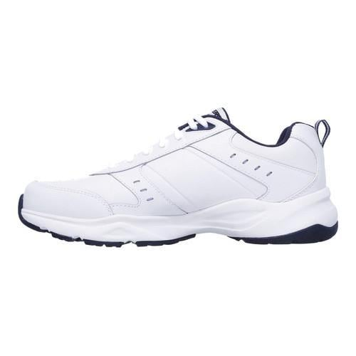 Men's Skechers Haniger Training Sneaker White/Navy - Thumbnail 2