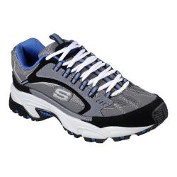 Men's Skechers Stamina Cutback Training Shoe Charcoal/Blue