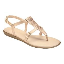 Women's Aerosoles Obstachle Course Thong Sandal Pink Metallic Faux Leather