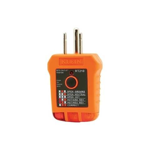 Klein Tools Receptacle Tester Orange