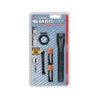 Maglite  Mini  14 lumens Flashlight Combo Kit  Incandescent  AA  Black