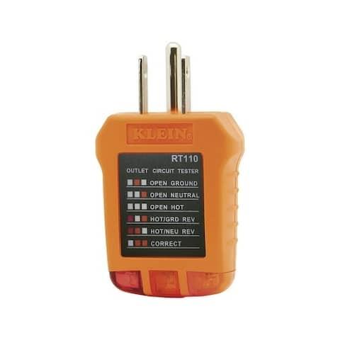 Klein Tools LED Receptacle Tester Orange and Black