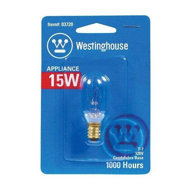 Westinghouse Appliance Light Bulb 15 watts 108 lumens, Cl...