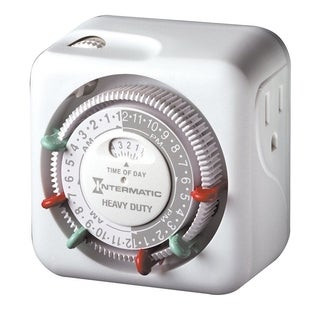 Intermatic Indoor Heavy Duty Plug In Timer 15 amps White
