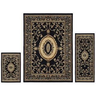 Superior Designer Clementina 3-piece Area Rug Set (Option: Cream)