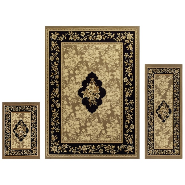Shop Superior Designer Elton 3 Piece Area Rug Set 2 X 5 2 X 3