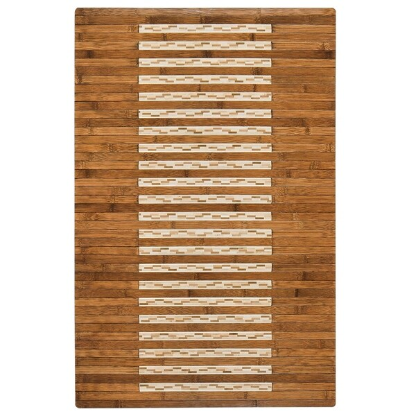 Shop Jani Bamboo Bath and Kitchen Mat with Walnut Finish - Free ...
