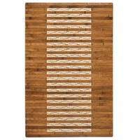 Jani Bamboo Bath and Kitchen Mat with Walnut Finish