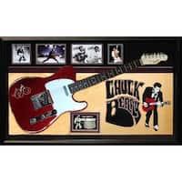 Chuck Berry Signed Guitar Custom Framed