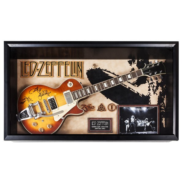 Led Zeppelin - Signed Guitar Custom Framed