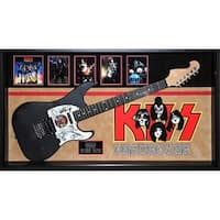 KISS Original Band Signed Guitar Destroyer Custom Framed