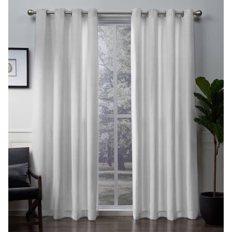 The Gray Barn Dreamweaver Metallic Grommet Top Curtain Panel Pair