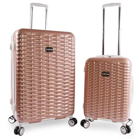 BEBE Lydia 2-piece Hardside Spinner Luggage Set