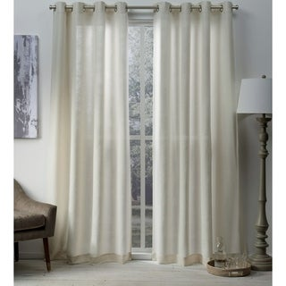 ATI Home Sparkles Metallic Grommet Top Curtain Panel Pair