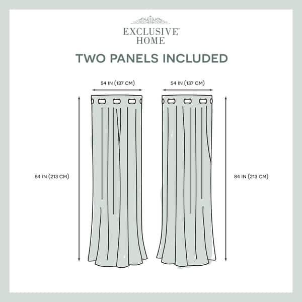 Ati Home Sparkles Metallic Grommet Top Curtain Panel Pair Overstock 18100342 54x108 Black Pearl