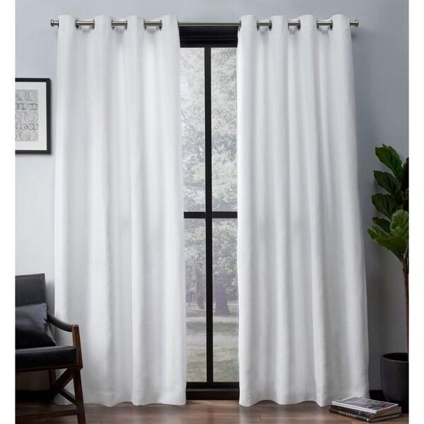 ATI Home Leeds Slub Woven Blackout Grommet Top Curtain Panel Pair